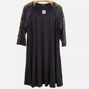 NWT Torrid Lace and Jersey Trapeze Mini Dress D46